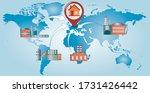reshoring concept. factories... | Shutterstock .eps vector #1731426442