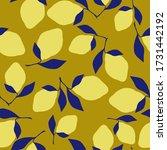 simple abstract lemon pattern.... | Shutterstock .eps vector #1731442192