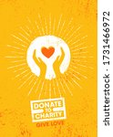 donate to charity. give love.... | Shutterstock .eps vector #1731466972