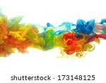 colorful ink in water abstract | Shutterstock . vector #173148125