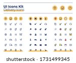 delivery ui icons kit. courier...