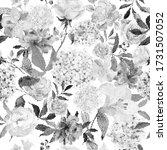 flowers seamless pattern in... | Shutterstock .eps vector #1731507052