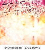 cherry blossoms over blurred... | Shutterstock . vector #173150948