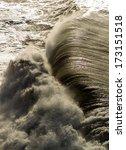 Huge Wave In Atlantic Ocean