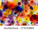 Colorful Glass Ceiling Lights