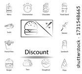 fast food discount outline icon....