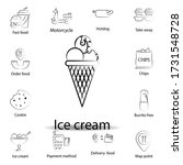 fast food ice cream outline...