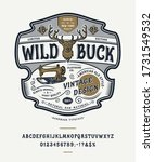 font wild buck. craft retro... | Shutterstock .eps vector #1731549532