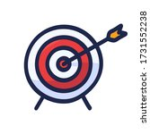 target with arrow hand drawn... | Shutterstock .eps vector #1731552238