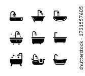 bathtub  icon or logo isolated... | Shutterstock .eps vector #1731557605