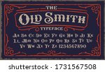 a vintage rough font with upper ... | Shutterstock .eps vector #1731567508