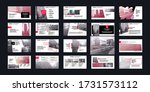 red presentation templates... | Shutterstock .eps vector #1731573112