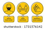vector yellow circle sign with... | Shutterstock .eps vector #1731576142