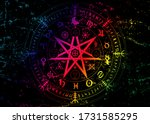 wiccan symbol of protection....   Shutterstock .eps vector #1731585295