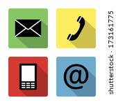 contact icons buttons set  ... | Shutterstock .eps vector #173161775