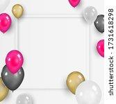 colorful balloons on white... | Shutterstock .eps vector #1731618298