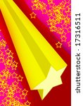 falling star background | Shutterstock . vector #17316511