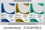 set of minimalist flyer... | Shutterstock .eps vector #1731692812