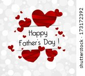 happy father's day greeting... | Shutterstock .eps vector #173172392