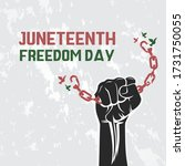 juneteenth freedom day with... | Shutterstock .eps vector #1731750055