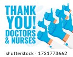 thank you doctors and nurses.... | Shutterstock .eps vector #1731773662