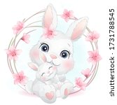 cute little bunny mother and...   Shutterstock .eps vector #1731788545