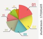 infographic element  pie... | Shutterstock .eps vector #173181635