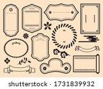 illustration of japanese frame... | Shutterstock .eps vector #1731839932