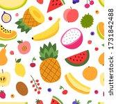 colorful vector fruit pattern.... | Shutterstock .eps vector #1731842488