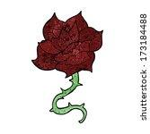 cartoon rose | Shutterstock .eps vector #173184488
