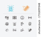 america icons set. american...