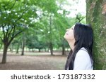 beautiful young woman thinking... | Shutterstock . vector #173187332