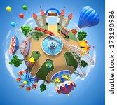 amusement park planet | Shutterstock . vector #173190986