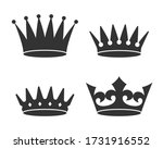 crowns graphic icon set.... | Shutterstock .eps vector #1731916552