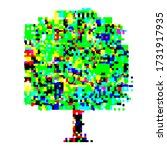 tree with glitch. fatal... | Shutterstock .eps vector #1731917935