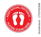 stand here and keep social...   Shutterstock .eps vector #1731932368