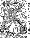 coloring page in line style.... | Shutterstock .eps vector #1731976468