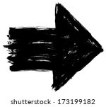 black arrow sign painted by... | Shutterstock . vector #173199182