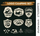 camping and hiking logo design  ... | Shutterstock .eps vector #1732009972