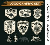 camping and hiking logo design  ... | Shutterstock .eps vector #1732009975