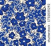 hand drawn artistic naive daisy ...   Shutterstock .eps vector #1732035292
