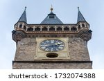 View Of Old Tower With A Clock...