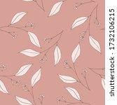 pink pastel blooming  flowers.... | Shutterstock .eps vector #1732106215