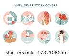collection of highlight story... | Shutterstock .eps vector #1732108255