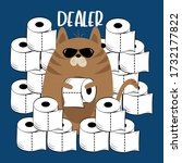dealer  funny text with cool... | Shutterstock .eps vector #1732177822