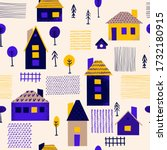 seamless pattern with different ... | Shutterstock .eps vector #1732180915