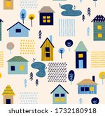 seamless pattern with different ... | Shutterstock .eps vector #1732180918