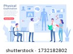 physical system examination and ... | Shutterstock .eps vector #1732182802