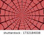 red spider web. vector... | Shutterstock .eps vector #1732184038