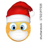 emoji emoticon wearing medical... | Shutterstock . vector #1732197535